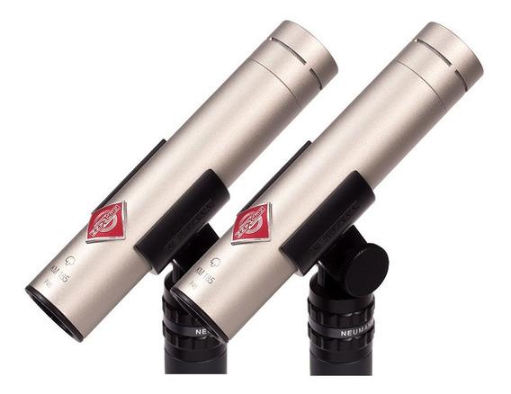 Neumann Km 184 Níquel Duplo 02 Microfones Made Germany / Wx