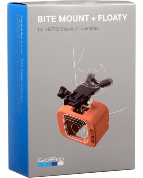 Suporte De Boca + Boia Gopro Bite Mount Floaty Aslsm-001