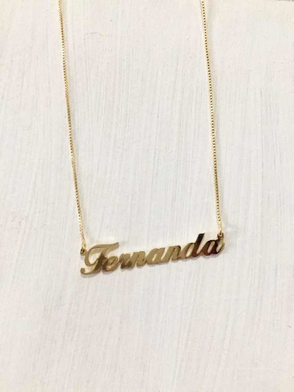 Corrente Com O Nome Personalizado. Fernanda