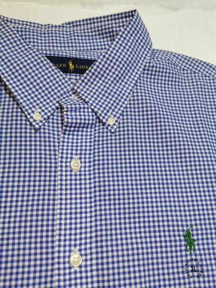 Camisa Polo Ralph Lauren Xl Azul Claro Original (no Nautica)