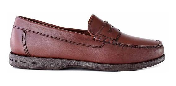 Mocasin Hombre Briganti Colegial Cuero Moda Zapato Hcmo01167
