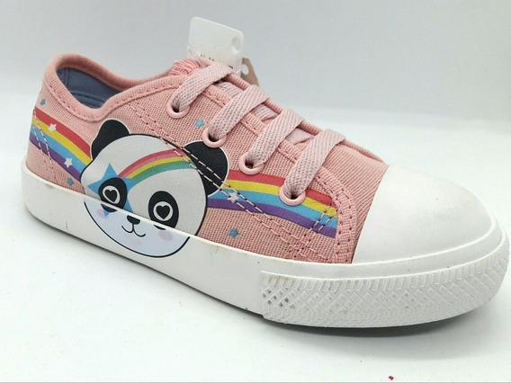 Tênis Sugar Shoes Desenho Infantil Panda Rosa Menina 25 2