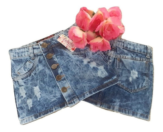 20 Saias Jeans Feminino Cintura Alta Hot Pant Super Luxo