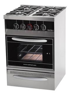 Cocina Industrial Sol Real 4 H 58cm Puerta Visor Y Parrilla
