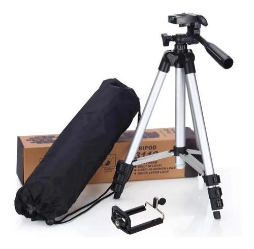 Kit Tripé Universal 1,20cm Suporte Celular Câmera Promoção