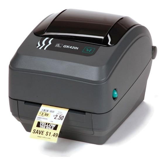 Impressora De Etiquetas Zebra Gk420t Usb, Serial E Paralela