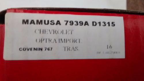 Pastilla De Freno Trasera 7939a Optra Todos Mamusa