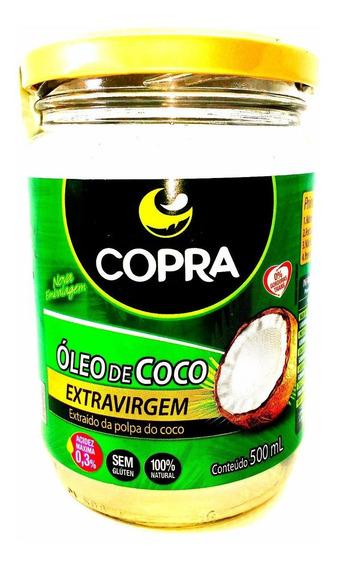6 Vidros De Óleo De Coco Extra-virgem 500ml Copra 3000 Ml