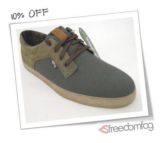 Tênis Freedom Fog Thunder Verde Exercito Skate Shoes
