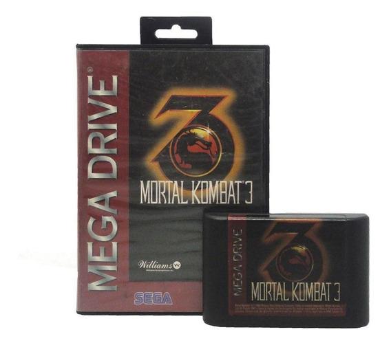 Mortal Kombat 3 Mega Drive Mídia Física Pronta Entrega