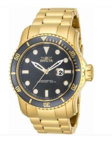 Garanto 100% Original! Relógio Invicta Pro Banhado A Ouro.