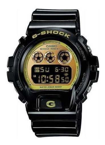 Relogio G-shock Pulseira Borracha Preto Dourado Dw-6900cb