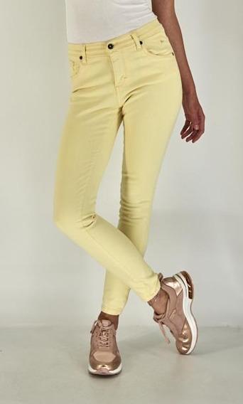 Pantalon Jeans Skinny Lee Mujer Cintura Alta R70