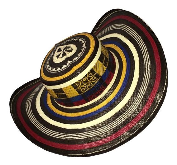 Sombrero Vueltiao 19 Vueltas Original Colombiano Tricolor