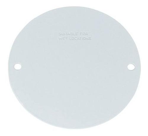 Imagen 1 de 1 de Sigma Electric, Blanco 14241wh Cubierta Redonda Blanca Estam