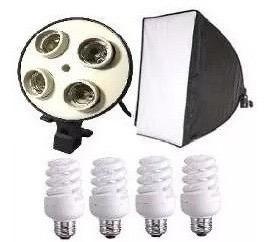 Kit Iluminação Softbox Foto E Vídeo 360w Sem Tripé