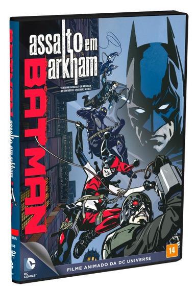 Batman - Assalto Em Arkham Dvd Original, Novo E Lacrado
