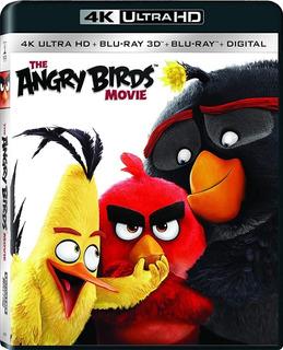 Pelicula Angry Birds 4k 3d Y Bluray Nueva Sellada