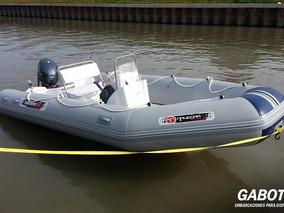 Semirrigido Pampa48 Con Motor Yamaha 40 Hp Full Completo