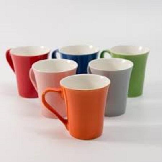 Set Por 6 Tazas De Cafe De Ceramica Colores Varios