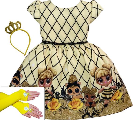 Vestido Temático Luxo Boneca Lol Surprise 4 Ao 16 Queen Be