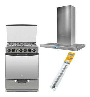 Combo Cocina Ormay A4 Campana Llanos Premi +flexible Gas Ap