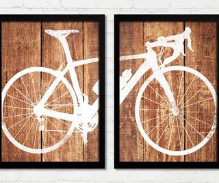 Quadros Bicicleta Cor Maidera Envelhecida Decoração C