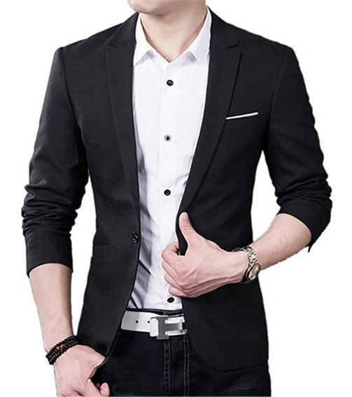 Blazer Slim Fit Luxo Casual Masculino Elegante Original Moda