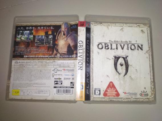 Jogo Ps3 Original - Oblivion The Elder Scrolls 4 - Jap