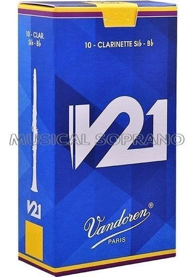 Palhetas Vandoren V21 Clarineta (cx Com 10) Nº 2,5 - 3 - 3,5
