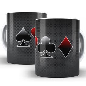 Caneca Baralho Cartas Poker Naipes Jogos Cassino
