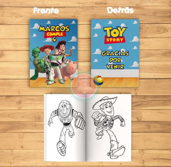Kit Imprimible Librito Para Colorear - Toy Story