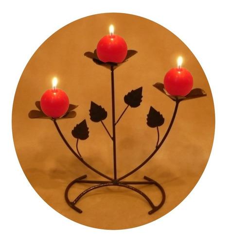 Castiçal Botões De Rosas Porta Vela Dia Dos Namorados