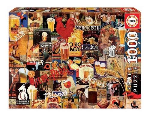 Puzzle Eduka 1000 Pcs. Collage Cerveza - Giro Didáctico