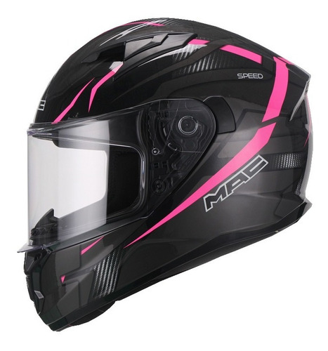 Casco Integral Mac Speed Riot Pink Dama Mujer Moto Delta