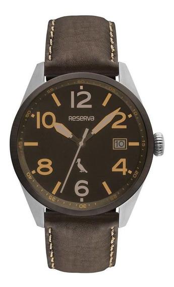 Relógio Reserva Masculino Ref: Re2415ab/2m Casual Prateado