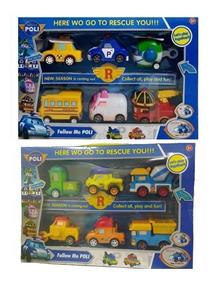 Kit 12 Carrinhos Fricçao Poli Robocar Brinquedo