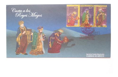 Imagen 1 de 1 de Timbre Sobre 1er Día Carta A Los Reyes Magos Navidad 2009