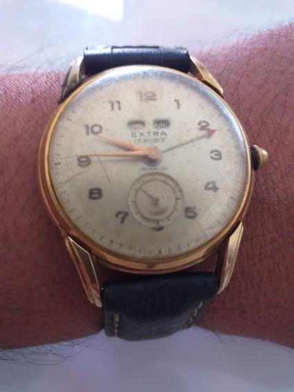 Relógio Extra 17 Rubis Raro Lembra Muito Birma Funcionando