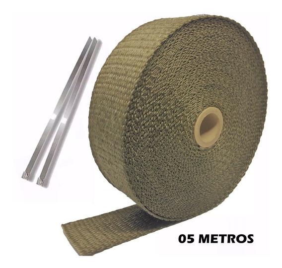 Fita Térmica Escapamento Termotape Titanium 5 Metros E 2 Zip