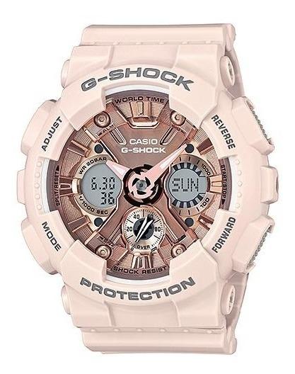 Relógio Casio G-shock Feminino Rose Gma-s120mf-4adr