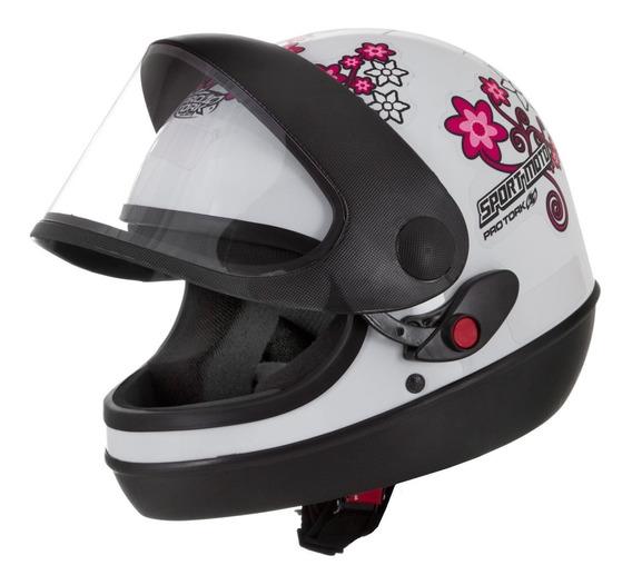 Capacete Automático Feminino Sport Moto For Girls Pro Tork