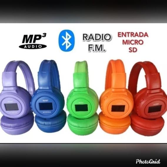 Audifonos Inalambricos Con Memoria Micro Sd Incluida