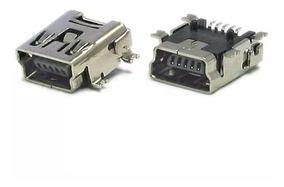 Conector Jack Usb V3 Mini Usb Fêmea 5 Pinos (10 Peças)