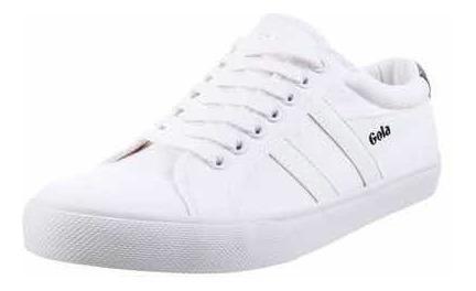 Zapatillas Gola Modelo Varsity Blanco Con Blanco