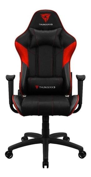Cadeira de escritório Thunderx3 EC3 jogador ergonômica preta/vermelha