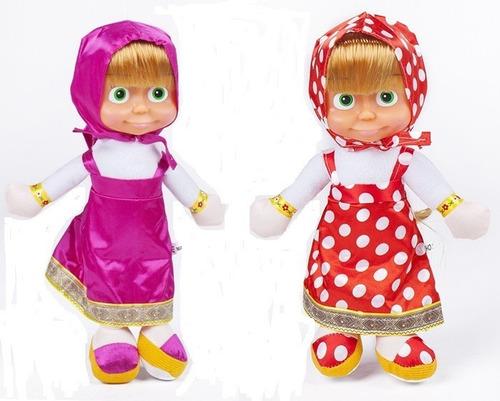 Imagen 1 de 3 de Muñeca Serie Infantil Masha Y El Oso 27 Cm Musical $ 8.000