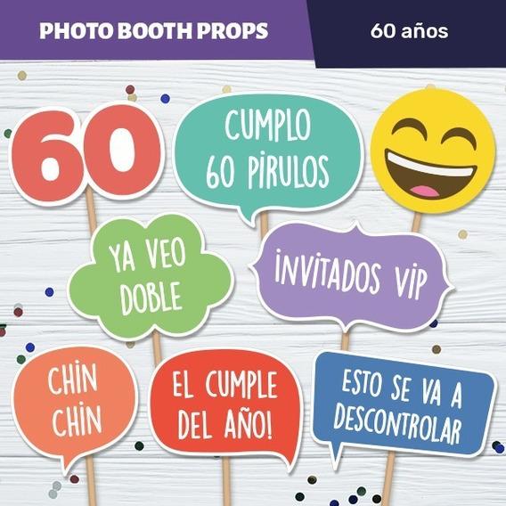 Carteles Con Frases Para El Photobox Cumple 60 Kits
