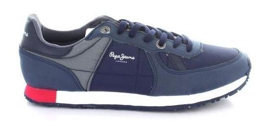 Tenis Para Hombre Pepe Jeans 4401-050455 Color Marino/gris