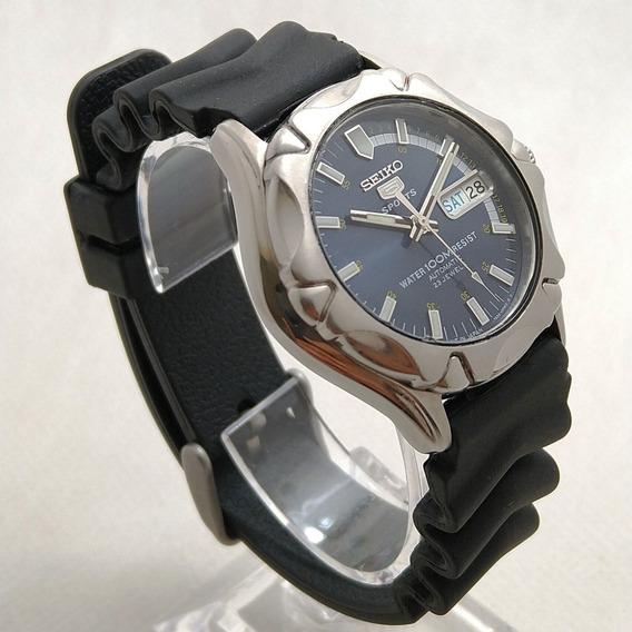Relógio Seiko 5 Sports 7s36-00w2 Azul. Lindo Perfeito Estado